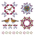 cute pheasant cartoon motif vector image vector image