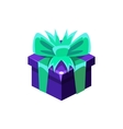 Dark Blue Gift Box With Present Decorative vector image vector image