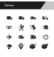 delivery icons design for presentation graphic vector image vector image