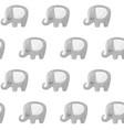 elephant pattern baby animal seamless vector image