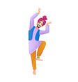 Ethnic dance of cartoon indian man vector image