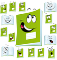 exercise book cartoon vector image vector image
