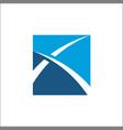 finance logo abstract vector image