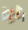 fired concept isometric vector image