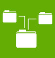 folders structure icon green vector image vector image