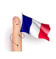 france waving flag vector image vector image