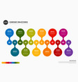 full year timeline template vector image vector image
