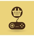 games online entertainment isolated icon design vector image