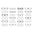 glasses silhouette hipster geek optic retro vector image