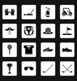 golf icons set symbols simple style vector image vector image