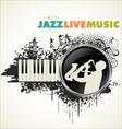Grunge jazz banner vector image vector image