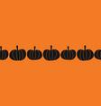 halloween pumpkins seamless border vector image vector image