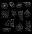 halloween spiderweb or cobweb set vector image vector image
