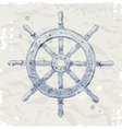 Hand drawn ship steering wheel vector image vector image