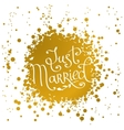 hand drawn words just married vector image