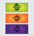 happy halloween party text with circle gradient ba vector image