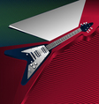 hevay metal guitar vector image