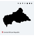 high detailed map central african republic