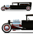 hot-rod hearse vector image vector image