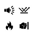 influence noise simple related icons vector image vector image
