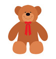 isolated teddy bear vector image vector image