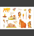 life stone age primitive man ice age vector image