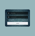 login form template in jeans texture style vector image vector image