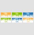 modern easter set modern happy easter cards vector image