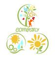 modern kindergarten logo vector image vector image
