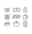 money doodle icons vector image vector image