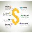Money infographic template suitable for business vector image vector image