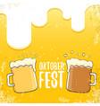 oktoberfest hand drawn label on beer vector image