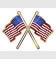 old glory pin padge vector image vector image