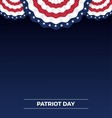Patriot day web banner and background design vector image