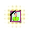 Photo of deceased icon comics style vector image vector image