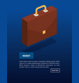 portfolio briefcase isometric icon vector image