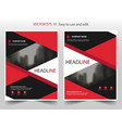 red black abstract annual report brochure flyer vector image vector image