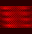 red metal perforated background vector image vector image