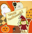 Retro Halloween Card vector image vector image
