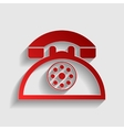 Retro telephone sign vector image vector image