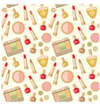 Seamless cosmetics pattern vector image