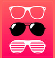 set sunglasses glasses vector image vector image