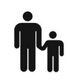 simple style icon man with child hold hand vector image vector image