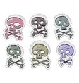 Six funny skulls vector image vector image