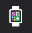 smart watch flat vector image vector image