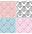 Summer seamless floral pattern set vector image vector image