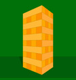 tower game with hands wooden block game vector image vector image