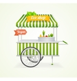 Vegetarian Shop Cart vector image vector image