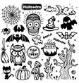 Vintage halloween of icons