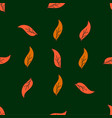 vintage seamless leaves pattern hand drawn autumn vector image vector image